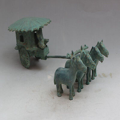 antique      The warring states bronze carts