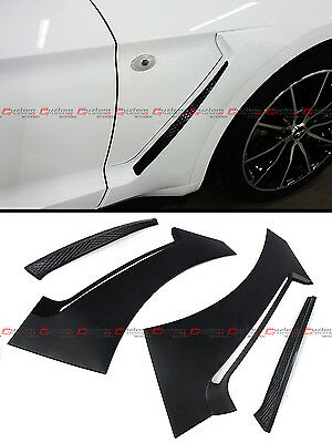 For 2015-18 Ford Mustang GT Style Front Fender Flare Side Panel Scoops Vents