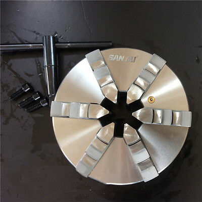 "6 Jaw 250MM Lathe Chuck Self-Centering 10"" Inch Hardened Steel CNC Metalworking"