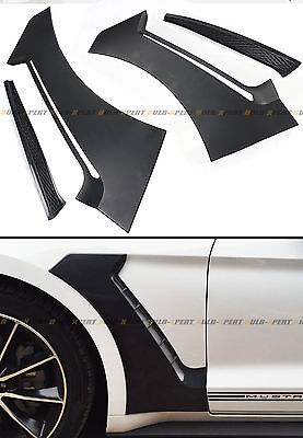 For 2015-18 Ford Mustang GT Style Front Fender Side Panel Door Scoops Vent Flare