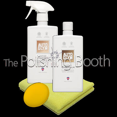 Autoglym Leather Care Balm & Leather Cleaner 500ml with Microfibre & Applicator