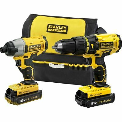 Stanley Fat Max, Hammer Drill, Impact Driver Kit, 18V Lithium