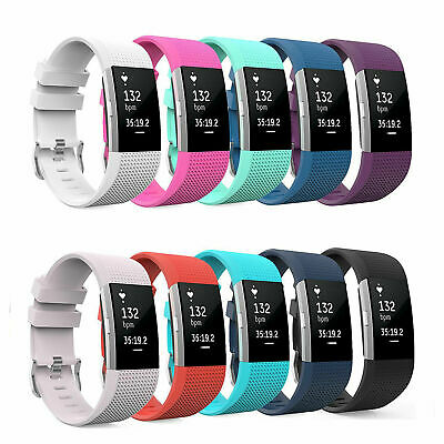 Premium Silicone Sport Brace Strap Wrist Replace Band Fitbit Charge 2 Watch