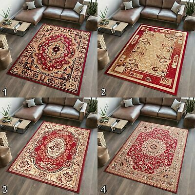 Small Medium Extra Large Rug Persian Carpet Traditional Pattern New Soft Red