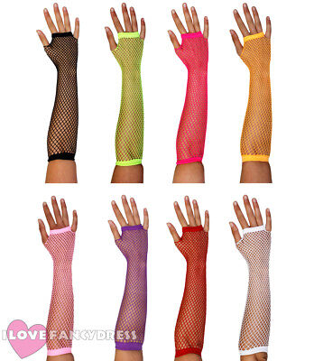 Pack Of Fishnet Gloves 1980S Multi Pack Lot 80S Punk Rave Costume Accessory