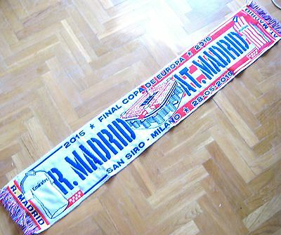 Bufanda Scarf 15-16 Real Madrid - Atletico Madrid Final Champions L. Milan Schal