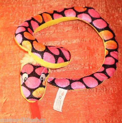 Colourful Pink Plush Snake by Pms
