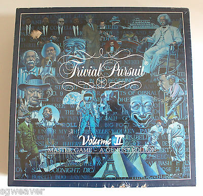 1987 Trivial Pursuit Volume II Master Game Genus Edition New Sealed Bumped Edge