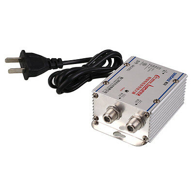 AC220V 2-Way Output CATV Cable TV Antenna Signal Amplifier Booster Splitter