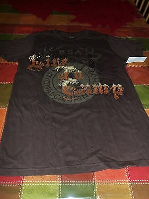 Boy Scout Live To Camp National Camping School T Shirt Mens Small Youth Size Xl