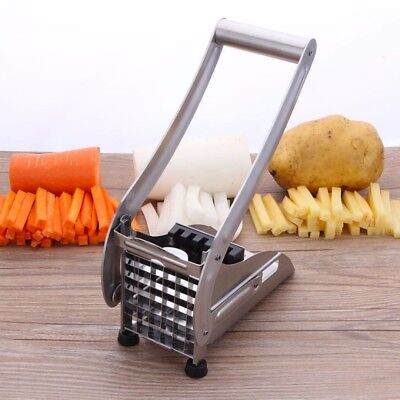 New Stainless Steel French Fry Cutter Machine Vegetable Potato Kitchen Slicer