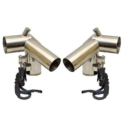 Corsa Boat Exhaust Diverter | Chaparral Stainless Steel w/ Harness (Pair)