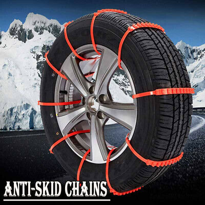 10Pcs Winter Anti-skid Chains fo Car/Truck Snow Wheel Tyre Tire Thickened Tendon
