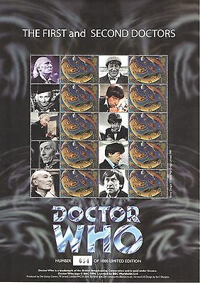 BC-213 2009 Doctor Who - 1st & 2nd Doctors Business Smilers Sheet