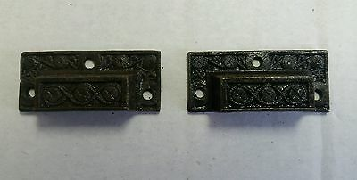 Pair Of Matching 2 Inch Victorian Style Cast Iron Pulls Handles