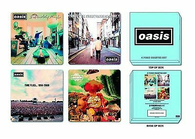 Oasis 4 x Coaster album covers new official Set in presentation box