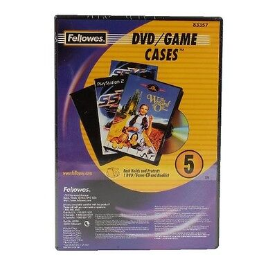 Fellowes DVD Plastic Replacement Case Pack of 5 8335702
