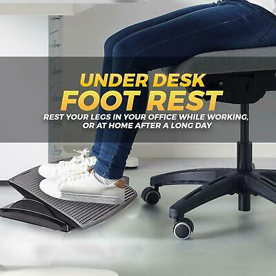 "Halter F7012 Premium Ergonomic Adjustable Angle Foot Rest - 13.8"" X 17.7"""