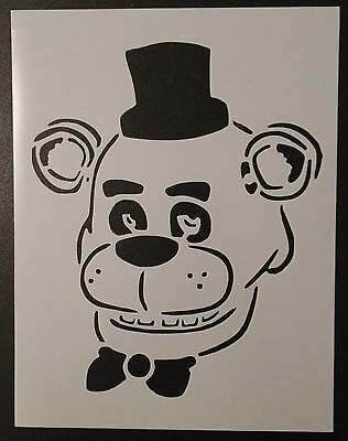"Five 5 Nights at Freddy's Freddy Freddys Fazbear 8.5"" x 11"" Stencil FREE SHIP"