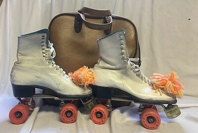 VINTAGE WOMEN'S BETTY LYTLE by HYDE CHICAGO 5 LEATHER ROLLER SKATES