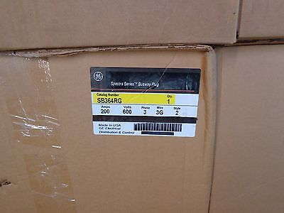 New In Box G.e. Spectra Cat# Sb364Rg 200A Fusible Bus Plug With Ground Stab