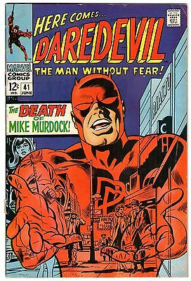 Daredevil #41. Vol1. Marvel June 1968. Death Of Mike Murdock. VG/VG+