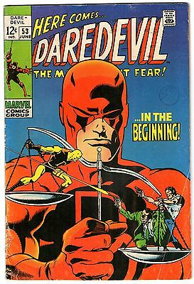 Daredevil #53. Vol1. Marvel June 1969. Origin Retold. VG