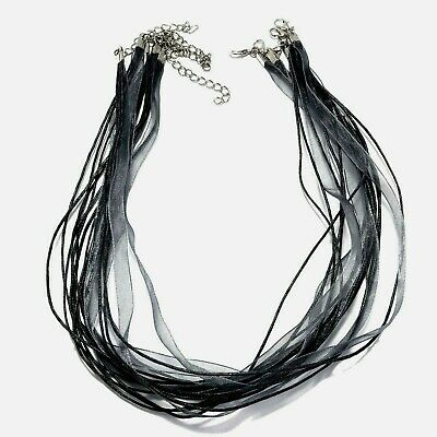 Ribbon Cord Voile Organza chiffon Lace Chain Jewellery Findings Colored Necklace
