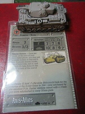 Axis and Allies - German Panzer III Ausf. F