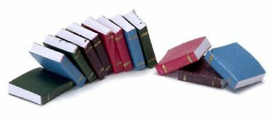 Dollhouse Miniature Set of 12 Blank Pages Colorful Books
