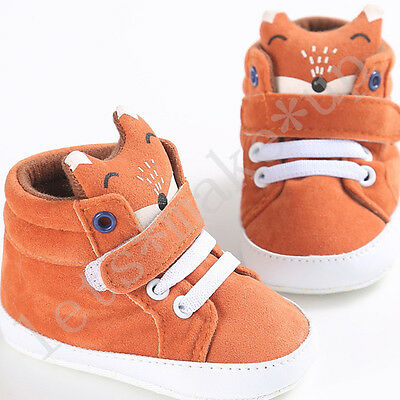Cotton Cartoon Fox Soft Sole Crib Shoes Infant Baby Boy Girl Sneaker 0 to 18 M