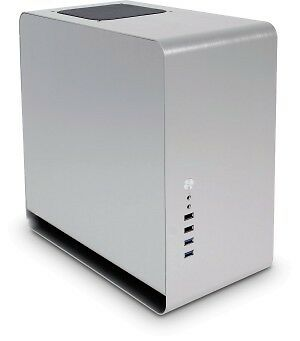 NEW! Cooltek UMX3 Zone Silver Compact Tower Aluminium Case