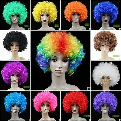 RICCI afro disco clown Parrucche Costume FUNKY uomo/donna/Bambini Halloween