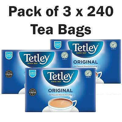 Tetley Original Rich Fresh Black Tea 750g - Pack of 3 x 240 - Total of 720 Bags