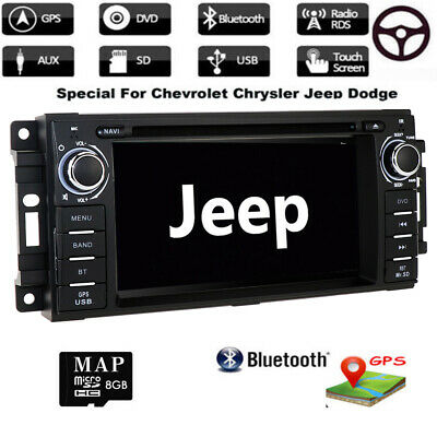 HeadUnit Car Dash DVD Player GPS Radio Stereo BT for Jeep Wrangler Dodge Journey