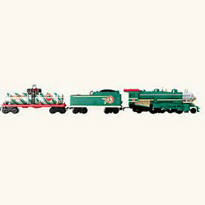 2008 Hallmark LIONEL HOLIDAY RAILROAD Miniature Train Ornament set/3 *Priority