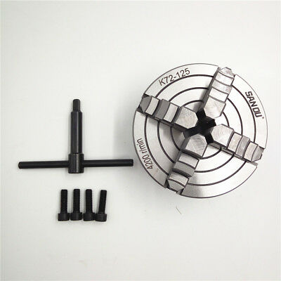125MM 4 Jaw Independent Lathe Chuck Reversible Adjustable Hardened Steel CNC