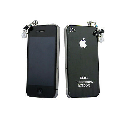 Crystal Butterfly Stopper Earphone Anti Dust Jack Plug For iphone 4 5 5s 6 6s