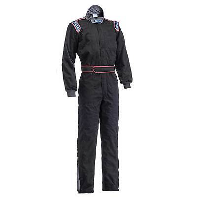 Sparco Race / Rally MX5 Quilted Mechanics Overalls In Black - XX-Large (XXL)
