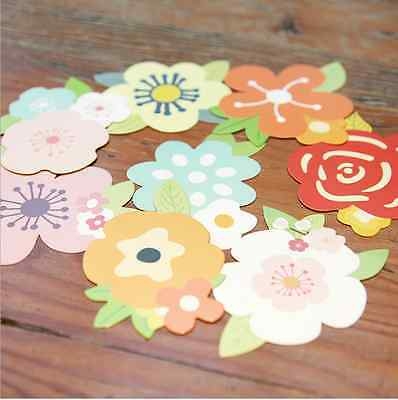 Set of 8 Different Shape Pattern Flower Floral Paper Bookmark / Card/ Memo