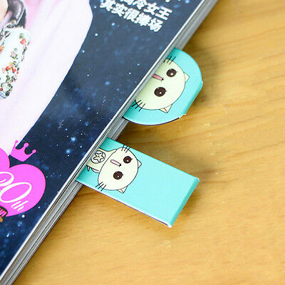 1XFruit Metal Magnetic Bookmarks Note Memo Stationery Book Mark Bookworm JR