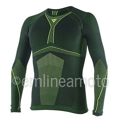 Shirt Thermal Moto Dainese D-Core Tee LS Black / Fluo-Yellow