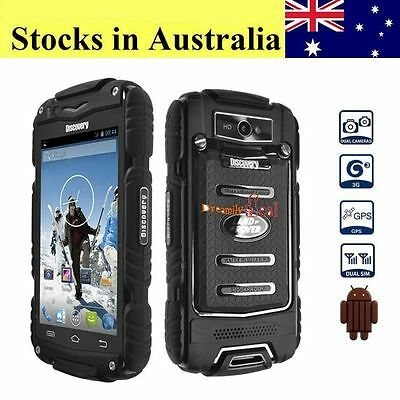 "4"" Discovery V8 2G/3G Smartphone Rugged Android 4.2 Waterproof Cell Phone Black"