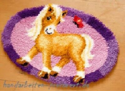 Vervaco Knotted Carpets ca.65x45 cm PONY with Butterfly Children knot yourself