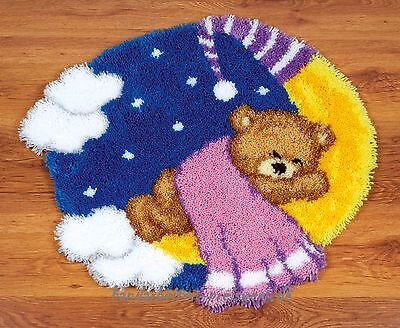 Vervaco Knotted Carpets shape ca.67x61 cm Teddy im Moon knot yourself -083