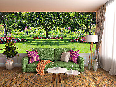 3D garden tree spring Wall Paper wall Print Decal Wall Deco Indoor wall Mural