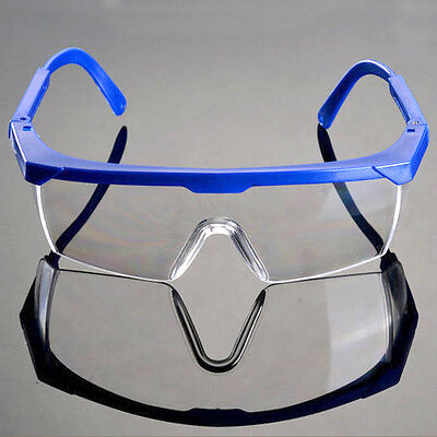 Adjustable Safety Ocular Protection Glasses Work Goggles Clear Lens Anti Impact