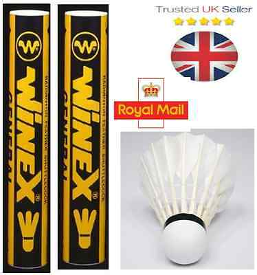 2 Tubes Winex - Premium Grade A Feather Badminton Shuttlecocks RRP: £12.99 Each