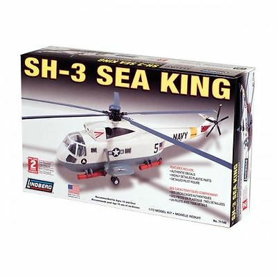 Lindberg Model Kit - SH-3 Sea King Helicopter - 1:72 Scale - 71140 - New