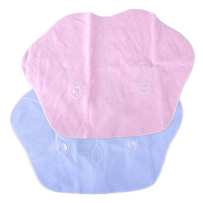 Shell Inflatable Terrycloth Bath Pillow Suction Cup Home Spa Back Neck Cushion